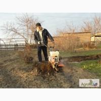 Вспашка земли мотоблоком в Челябинске