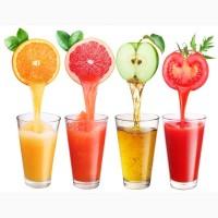 Концентрированные соки из фруктов и ягод в ассортименте