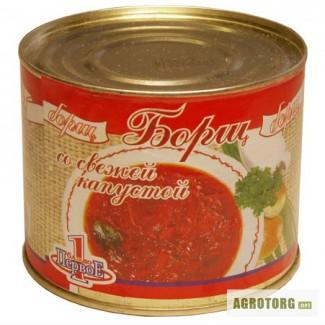 Супы готовые и концентрированные от производителя