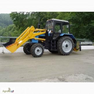 Трактор коммунальный Мк-3 на базе трактора Мтз-82 (Погрузчик, Щётка)