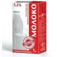 Молоко Эконом 3.2% у/пастеризованное, ТБА