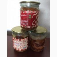 ООО Сантарин, реализует ЭКО-тушёнку, без ГМО, говядина, свинина-стеклобанка-480 грамм
