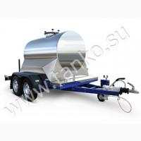 Автоцистерна термоизолированная 1150 литров с тормозами на двухосном шасси