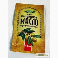 Масло порционное, Оливковое, 100%, растительное, нерафинированное, фольгированное, 10мл.