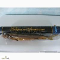 Астраханский Осетр в подарочном тубусе Подарок из Астрахани