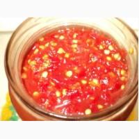 Аджика двух видов: томатная(огонёк)и перцовая