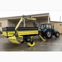 Полуприцеп тракторный с манипулятором DL Agromaster