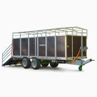 Прицеп оцинкованный для перевозки животных Kurier 10 T-678