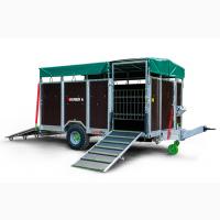 Прицеп оцинкованный для перевозки животных Kurier 6 T-677 для трактора