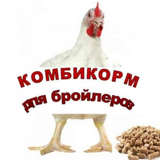 Комбикорм полнорационный ПК-6-16 для бройлеров(5недель и старше)
