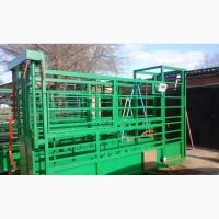 Станок для фиксации КРС, взвешивания, ветеринарной обработки быков, коров, телят