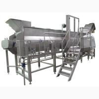 Бланширователь шнековый для термической обработки овощей и фруктов