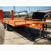 Низкорамный прицеп для перевозки спецтехники и оборудования массой до 8 тонн