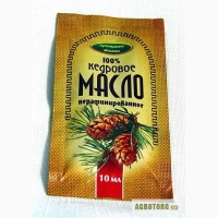 Масло порционное Кедровое, 100%, растительное, нерафинированное, фольгированное, 10мл