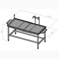 Стол с крючьями ASP-STPR-RK для приема и разборки кишкомплекта
